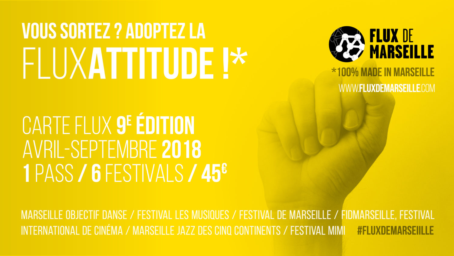 Carte Flux 2018 — GMEM Marseille